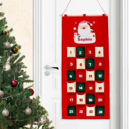 Personalised Santa Claus Felt Advent Calendar